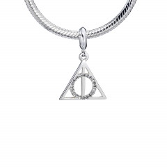 Harry Potter Sterling Silver Deathly Hallows slider charm with Crystal Elements HPSC002-SC