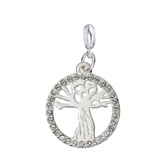 Sterling Silver Whomping Willow Slider Charm with Swarovski Crystals Elements - HPSC003-SC