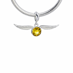 Harry Potter Sterling Silver Golden Snitch slider charm with Crystal Elements - HPSC004-SC
