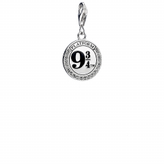 Official Harry Potter Sterling Silver Platform 9 3/4 clip on Charm with Crystal Elements HPSC011