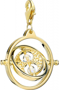 Official Harry Potter Gold Plated Time Turner Clip on Charm with Crystal Elements - HPSC021-G