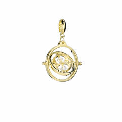 Official Harry Potter Gold Plated Time Turner Slider Charm with Crystal Elements - HPSC021-SCG