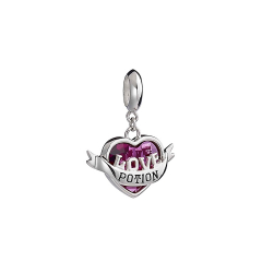 Official Harry Potter Sterling Silver Love Potion Slider Charm With Crystal HPSC0235-SC