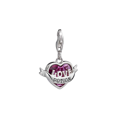 Official Harry Potter Sterling Silver Love Potion Clip on Charm with Crystal HPSC0235