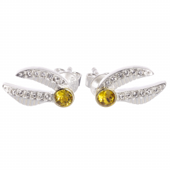 Harry Potter Golden Snitch Stud Earrings with Crystal Elements - HPSE004
