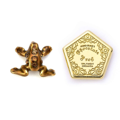 Official Harry Potter Sterling Silver Chocolate Frog Stud Earrings with Crystal Elements