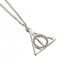Harry Potter Embellished with Crystals Deathly Hallows Necklace - HPSN002
