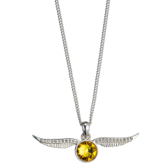 Harry Potter Golden Snitch Necklace Embellished with Crystals Elements - HPSN004