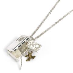 Official Harry Potter Sterling Silver Hogwarts Trunk Necklace NN000212