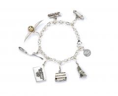 Official Harry Potter Sterling Silver Branded Charm Bracelet - Child