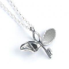 Official Sterling Silver Harry Potter Flying Key with a Broken Wing Necklace - NN0055