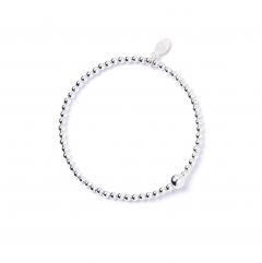 Sterling Silver Ball Bead Ankle Bracelet
