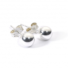 Sterling Silver Ball Bead Stud Earrings