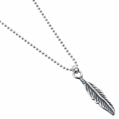 Sterling Silver Necklace with Feather Charm