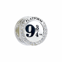 Official Harry Potter Sterling Silver Platform 9 3/4 Spacer Bead with Crystal Elements - SB0011