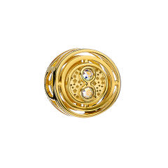 Official Harry Potter Gold Plated Sterling Silver Time Turner Spacer Bead with Crystal Elements - SB0100-G