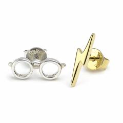 Official Harry Potter Sterling SilverLightning Bolt andglasses stud earrings