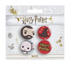 Harry Potter Cutie Button Badge Set 4 Hagrid/ Hat/ Dobby BBC0092