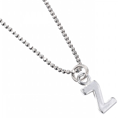 Sterling Silver Necklace with Initial Z Charm