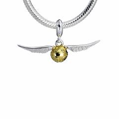 Sterling Silver Golden Snitch slider charm