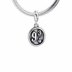 Harry Potter Sterling Silver Platform 9 3/4 Slider Charm