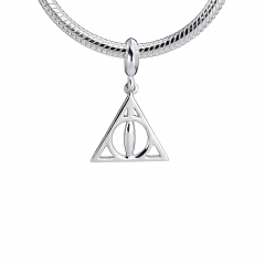 Sterling Silver Deathly Hallows slider charm