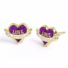Official Harry Potter Gold plated Love Potion Stud Earrings WES0053