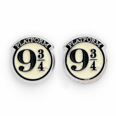 Official Harry Potter Platform 9 ¾ Silver Plated Stud Earrings WES0011
