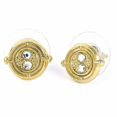Official Harry Potter Time Turner Gold Plated Stud Earrings
