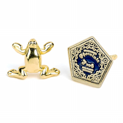 Official Harry Potter Chocolate Frog Gold Plated Stud Earrings WES0157