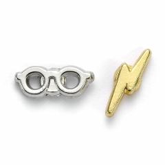 Official Harry Potter Lightning Bolt and Glasses Stud Earrings