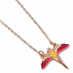 Official Harry Potter Rose Gold Plated Fawkes Necklace WN000113