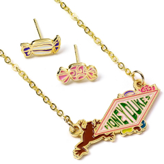 Official Harry Potter Honeydukes Logo Necklace and Earring Set WN000231