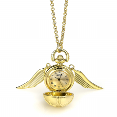 Golden Snitch Watch Necklace- WNTP004