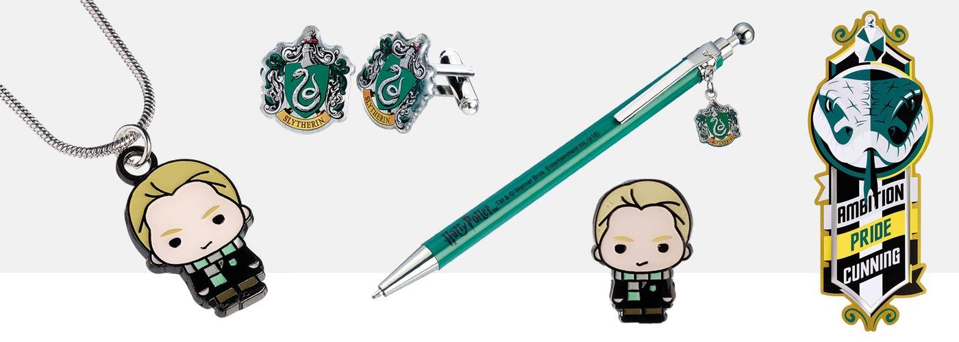 Draco Malfoy Merchandise and Slytherin Jewellery